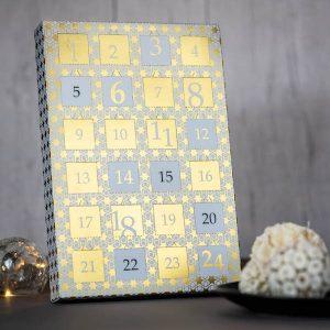 calendrier de l'avent classique or