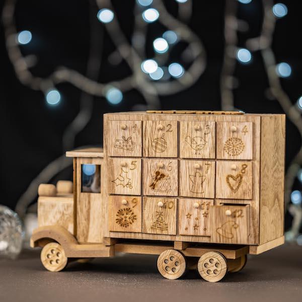 calendrier de l'avent camion chocolat